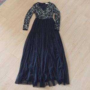 0a5e459469ece ASOS Petite Dresses | Nwt Maya Petite Sequin Tulle Maxi | Poshmark